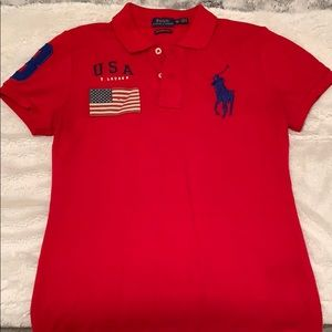 NWOT Polo Ralph Lauren Skinny Red Polo XS